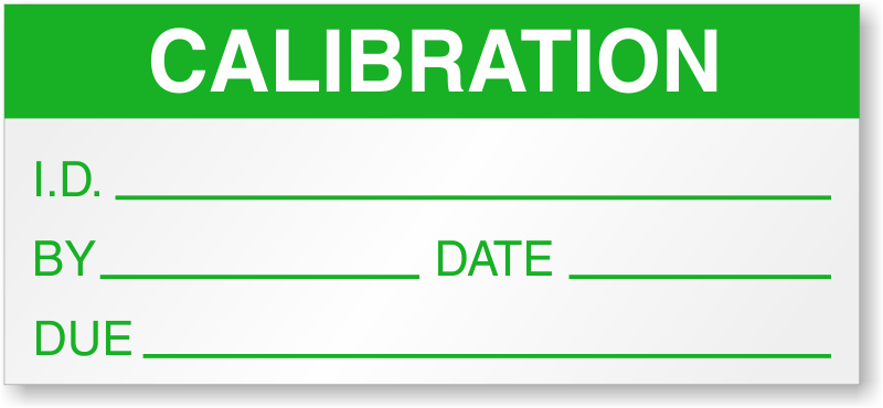 calibration id by date due label With calibration stickers template