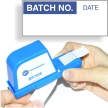 Batch No. Calibration Labels, Blue On White