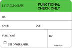 Functional Check Only Label [add name/logo]